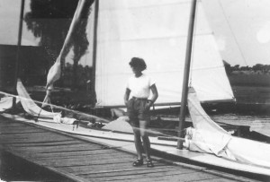 7. Teresa Smólska na Kiekrzu, 1952r.