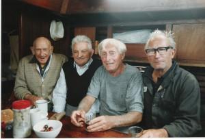 Spotkanie na Marii Le Havre 1991- od lewej Dave Walsh, L.Jacob, Francis Dumarsky, Ludek Maczka_fot.Louis B