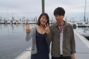 na zdjeciu ponizej jest pianistka Eiko Suzuki i wibrafonista Soushi Kubota na molo w Gateway Marina przed barka.Autorem wszystkich zdjec jest Malgorzata Krautschneider.