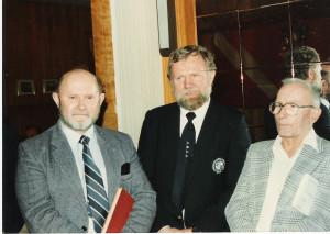Honorowi czlonkowie JCYC od lewej H.Jaskula, R.Konkolski, L.Maczka