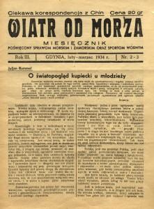 3.Wiatr od Morza wydanie z 1934 r.