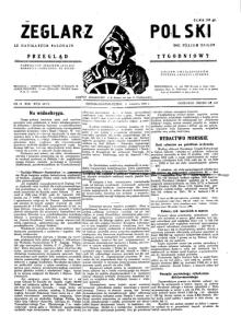 nr 14.1931 otatni przed włączeniem Żeglarza Polskiego