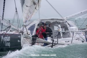 Arrivée de Giancarlo PEDOTE lors du Vendée-Globe 2020/21 aux Sables d'Olonne