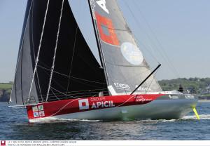 Grand Prix Guyader le 5 mai 2018, Damien Seguin, IMOCA Groupe Apicil Photo © François Van Malleghem - jmliot.com